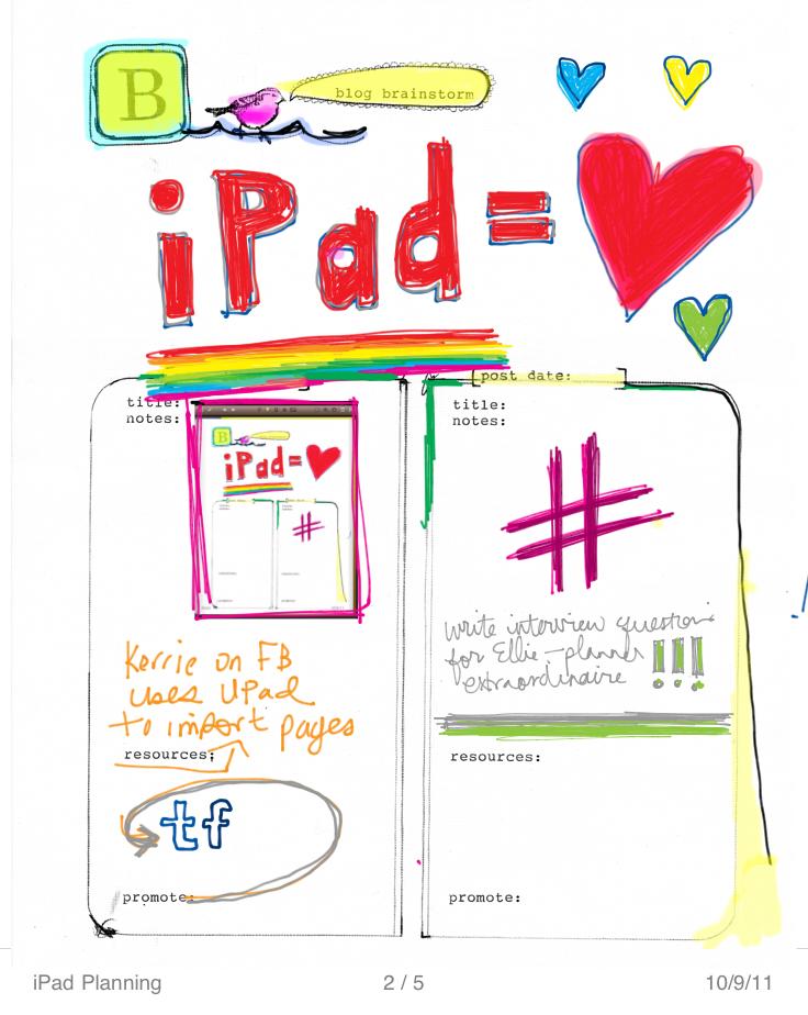 iPad Planning P2
