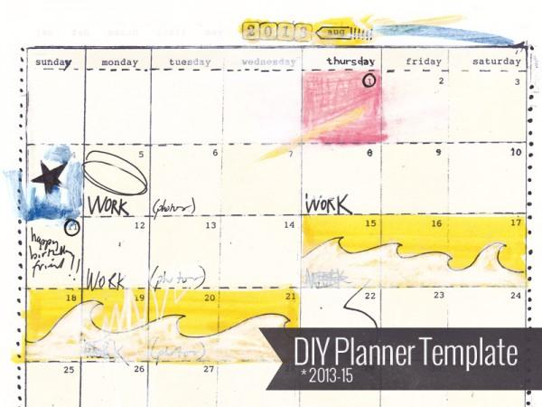 DIY Planner Template 2013-15, $12 from ahhh-design.com