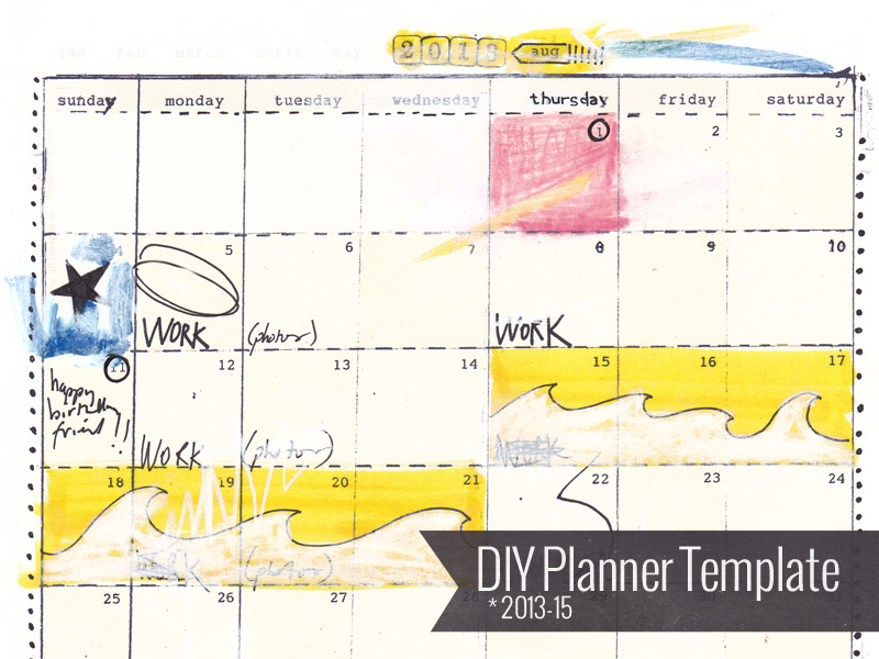 DIY Planner Template 2013-15, $12 from ahhh-design.com