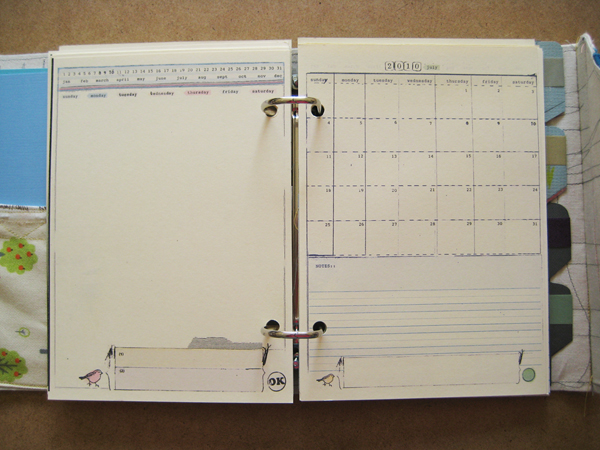 5x7 handmade binder with Ahhh Design Planner Templates
