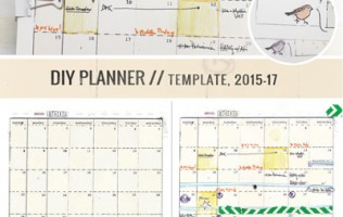 8.5 by 11 DIY Planner templates by Ahhh Design #diyplanner #printable