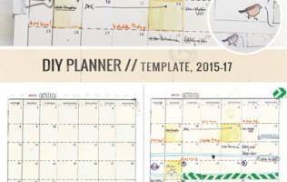 8.5 by 11 DIY Planner templates by Ahhh Design #diyplanner #printable