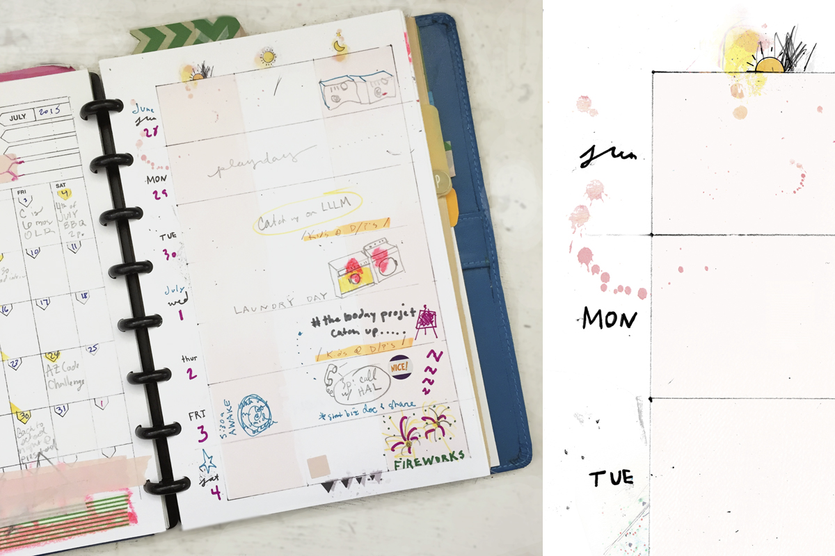 8.5 by 5.5 weekly planner templates by Ahhh Design #diyplanner #printable #week #messyweek #ARC