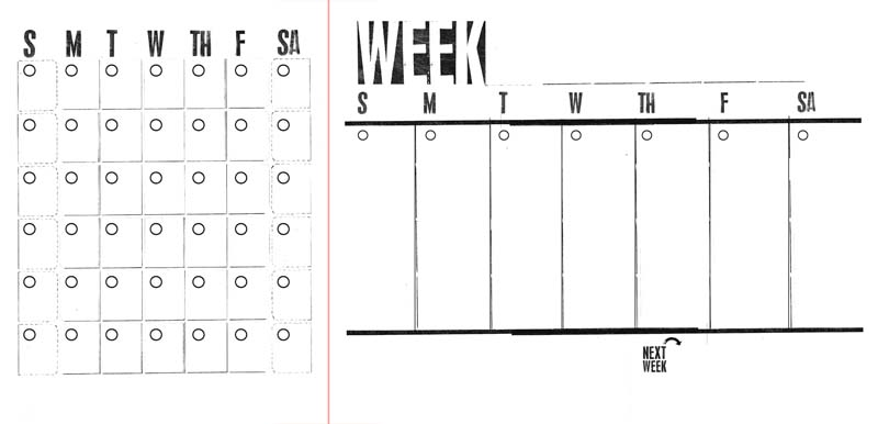 month and single week diy planner template, Ahhh Design