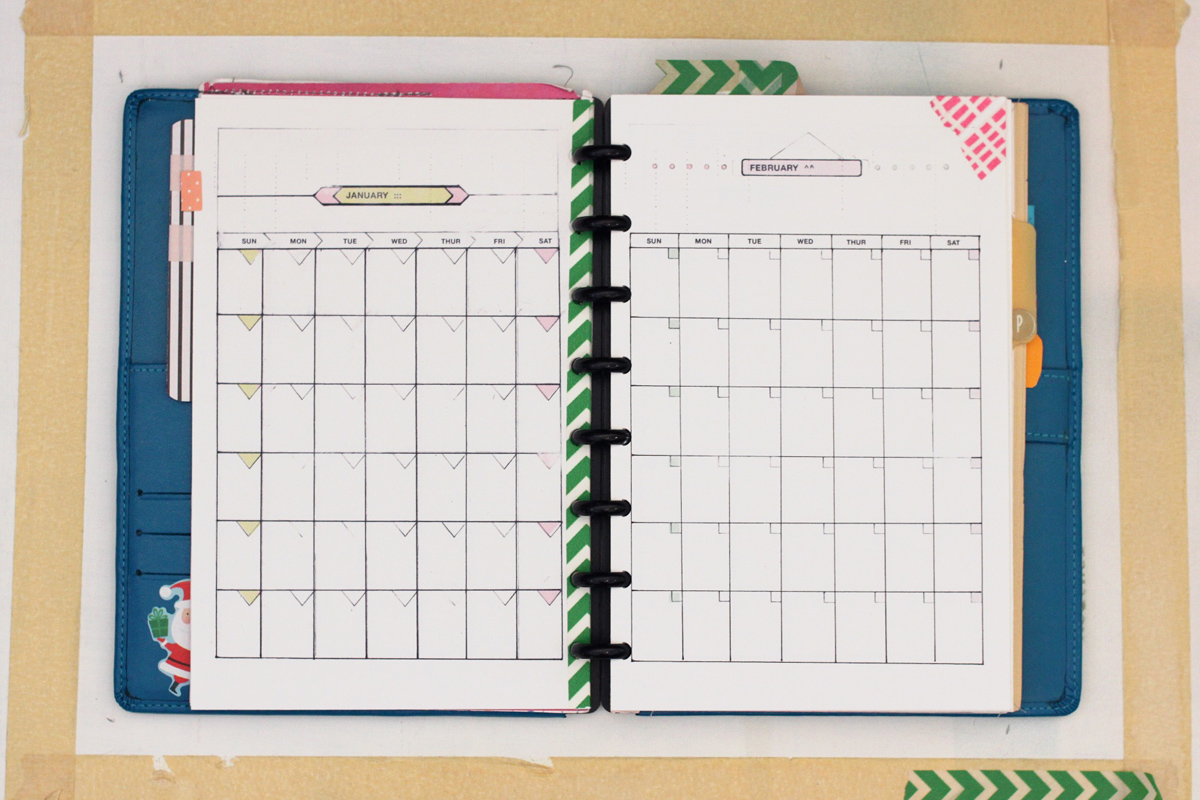 5.5 by 8.5 week, day and month planner templates by Ahhh Design #diyplanner #discbound