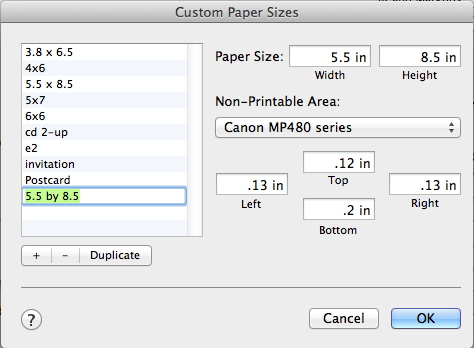Custom Paper Sizes - How to print 5.5 by 8.5 templates at home by Ahhh Design #diyplanner #discbound #printing