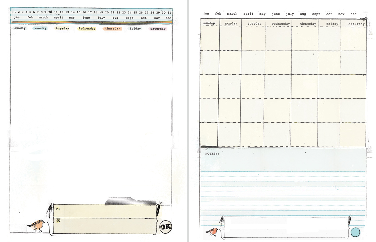 DIY Planner templates by Ahhh Design - daily notes & blank monthly template.  #diyplanner #printable