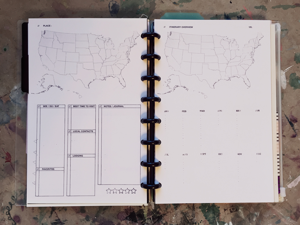 ARC Planner - 8.5 by 5.5 - Travel