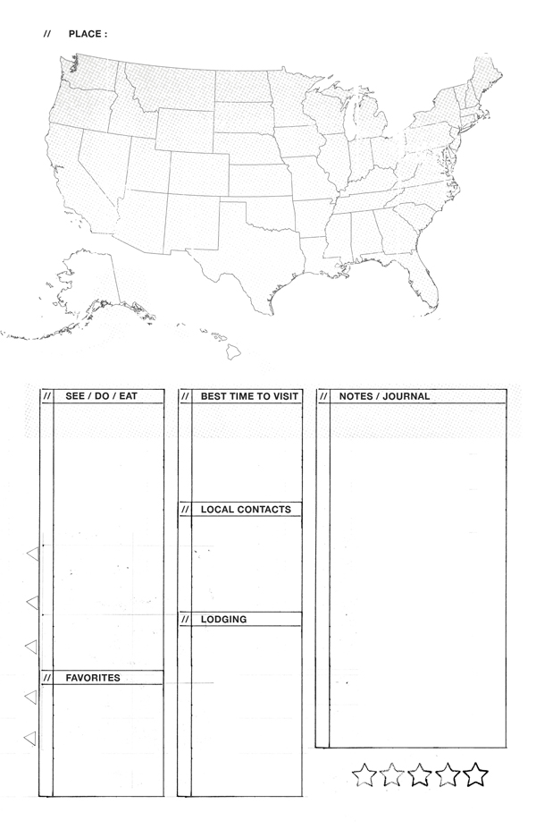 8.5 by 5.5 printable template - Travel